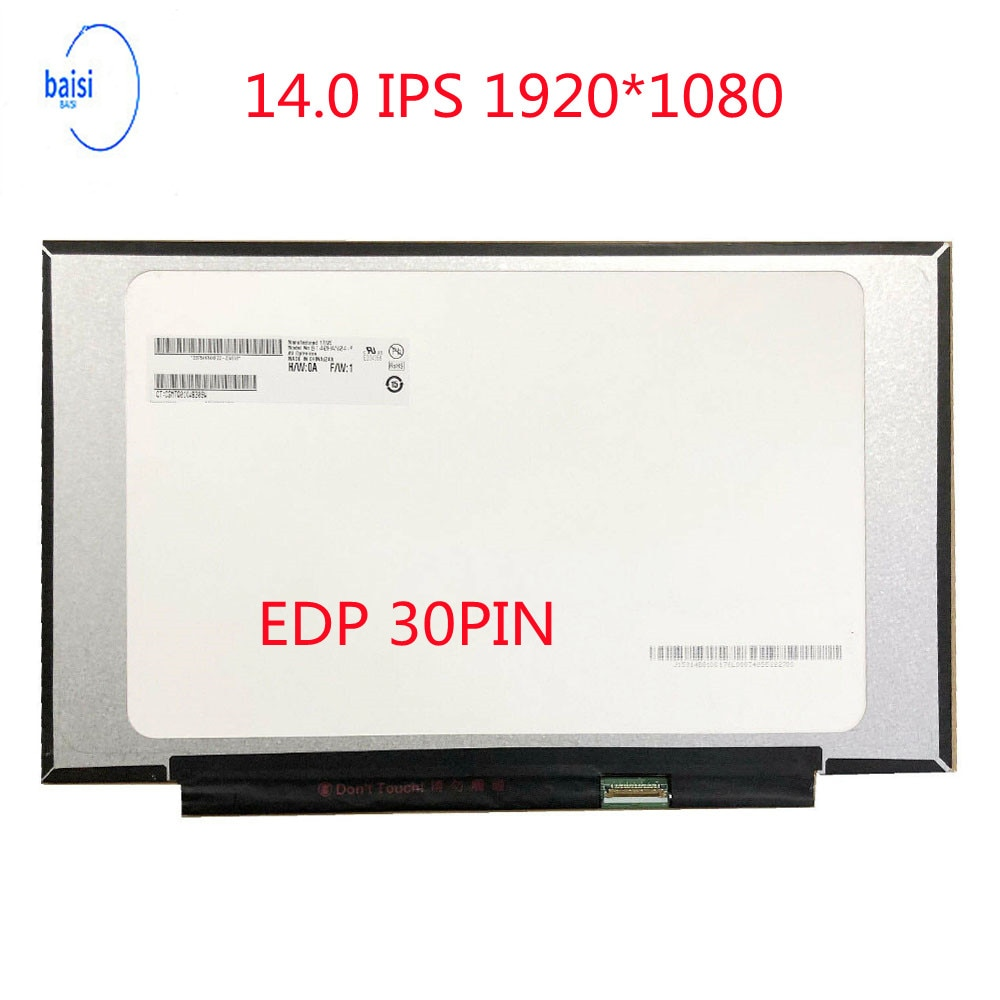 NT140FHM-N43 V8.0 صالح B140HAN04.0 N140HCA-EAC N61 ، بانتيلا LCD LED ، 1920x1080 ، 30 Pines ، IPS ، Novedad