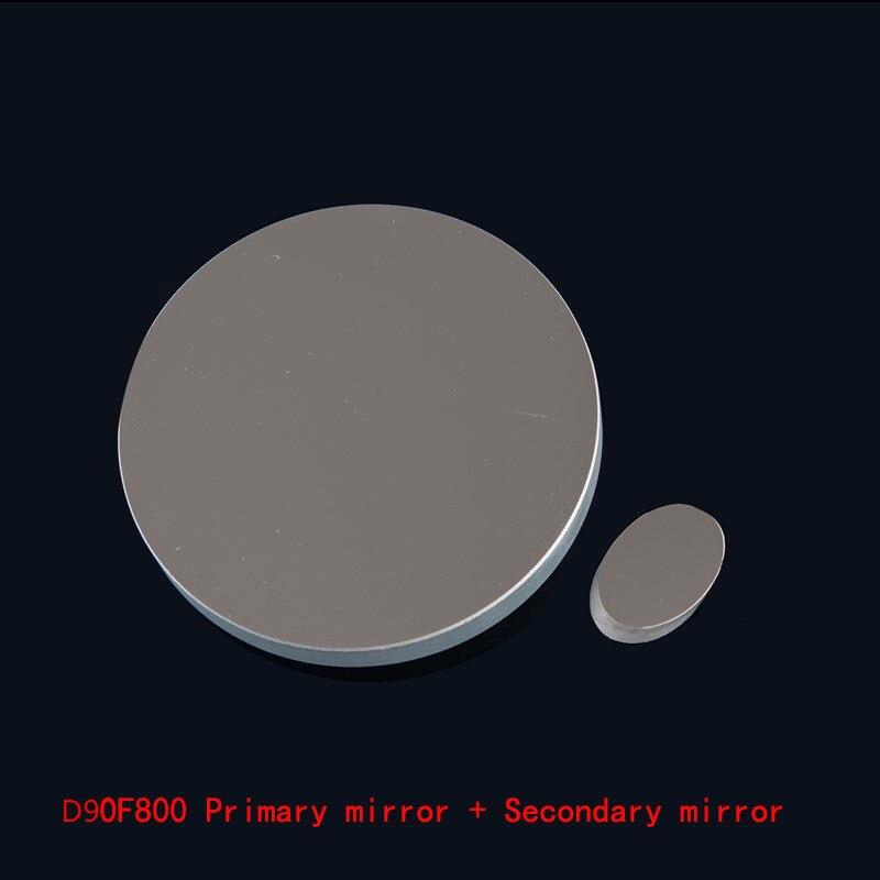 90mm espejo esférico longitud Focal de 800mm, telescopio astronómico newtoniana reflexión espejo grupo W/espejo secundario