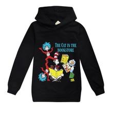 Sweat-shirt à capuche pour enfants   Vêtements de sport décontracté és, printemps-automne 2020, dr Seuss Ca