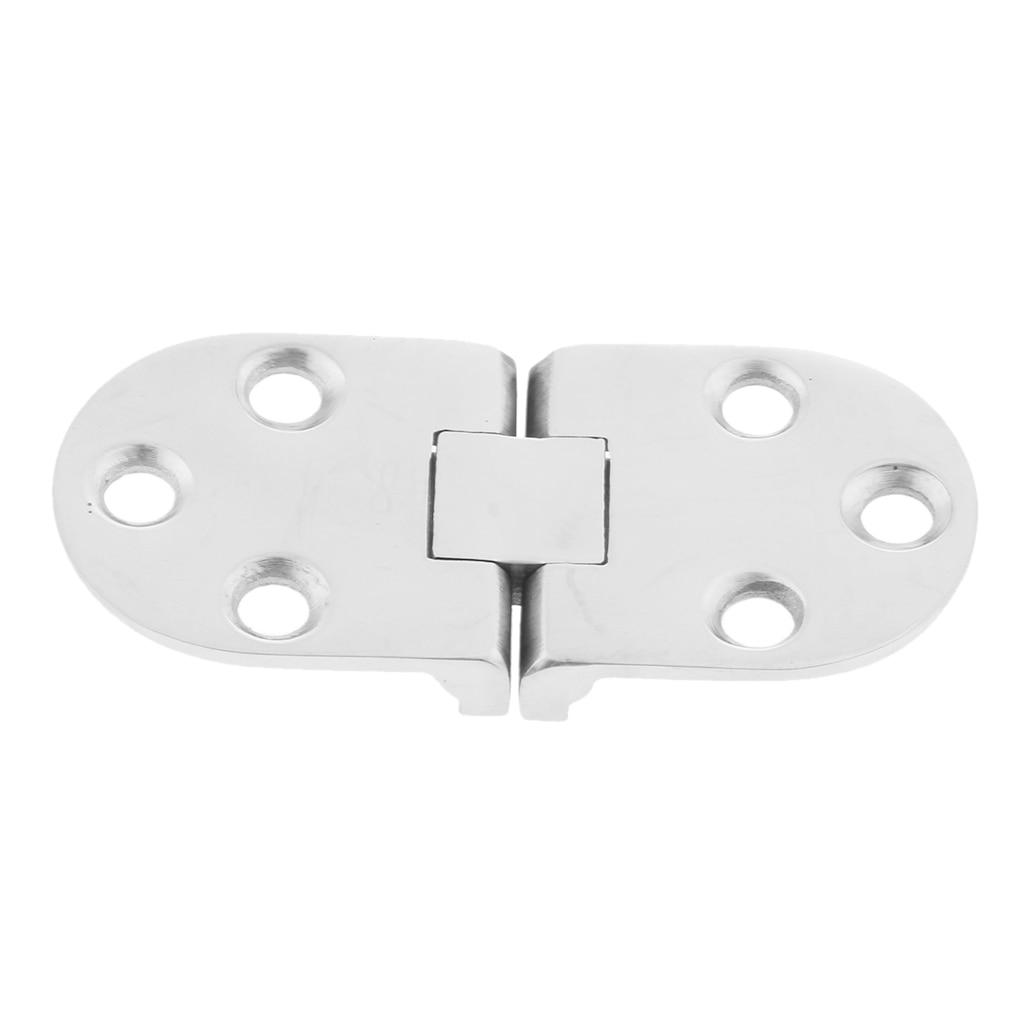 Puerta de casillero plegable barco marino RV escotilla bisagra al ras Correa Hardware alta superficie pulida 2,6 x 1,2
