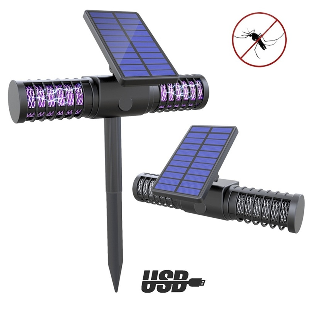 Solar Lights Mosquito Light Waterproof Outdoor Landscape Lighting Spotlight Auto on/Off for Yard Garden Driveway Mosquito Trap