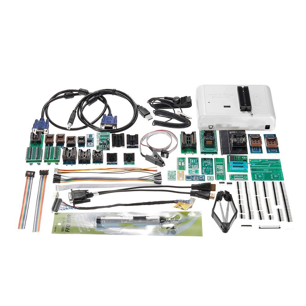 Nuevo programador de FLASH RT809H EMMC-Nand + 55 artículos + TSOP56 TSOP48 SOP8 cable EDID VGA a HDMI + SOP8 Clip de prueba