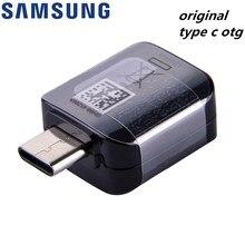 Tipo usb original c otg adaptador para samsung galaxy a70 a50 s8 s9 mais nota 8 a3 a5 2017 suporte pen drive/u disco/mouse/gamepad