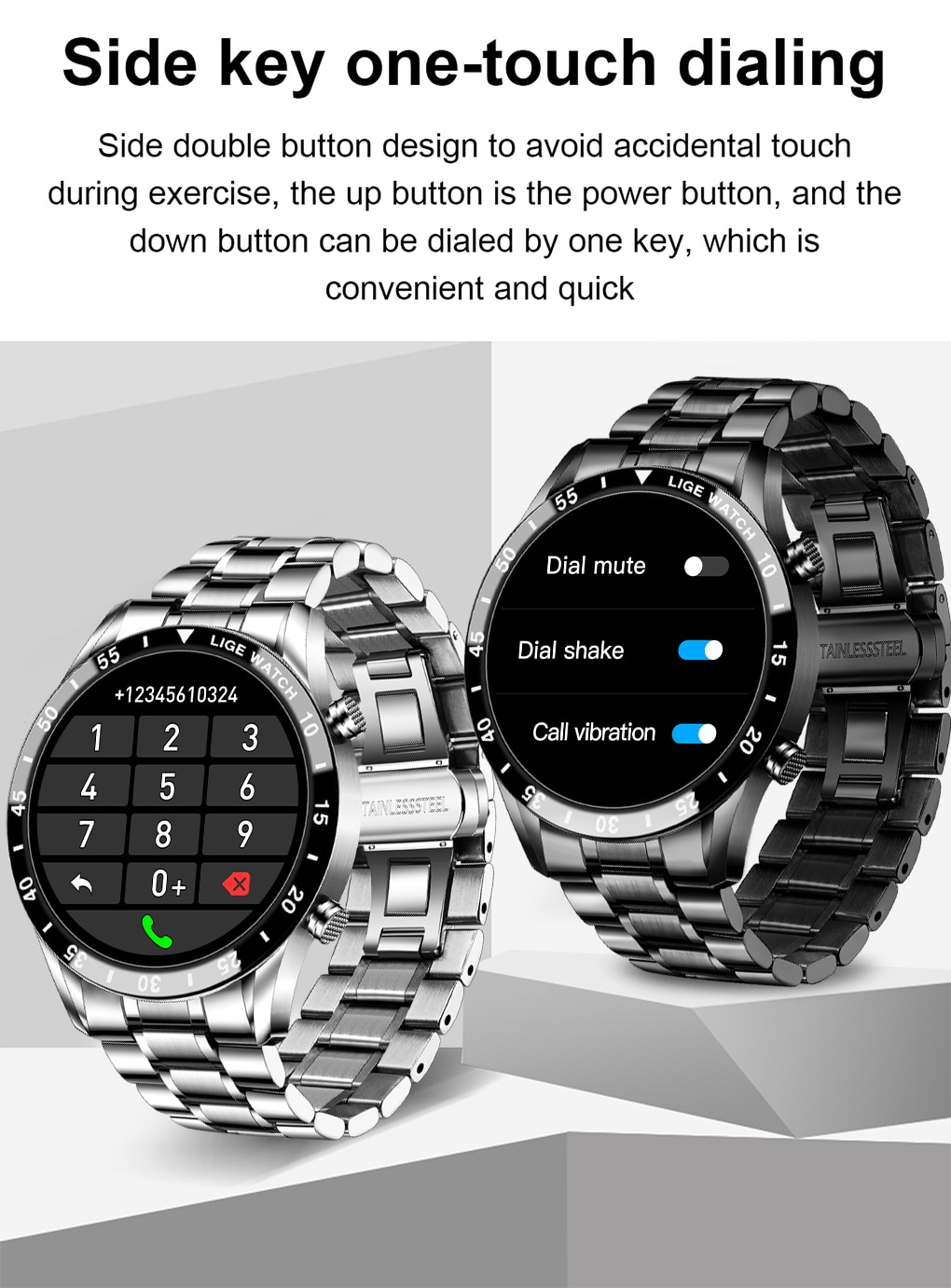 LIGE 2021 New Business Smart Watch Bluetooth Call Smartwatch Men Women Waterproof Sport Fitness Bracelet For IOS Android Honor