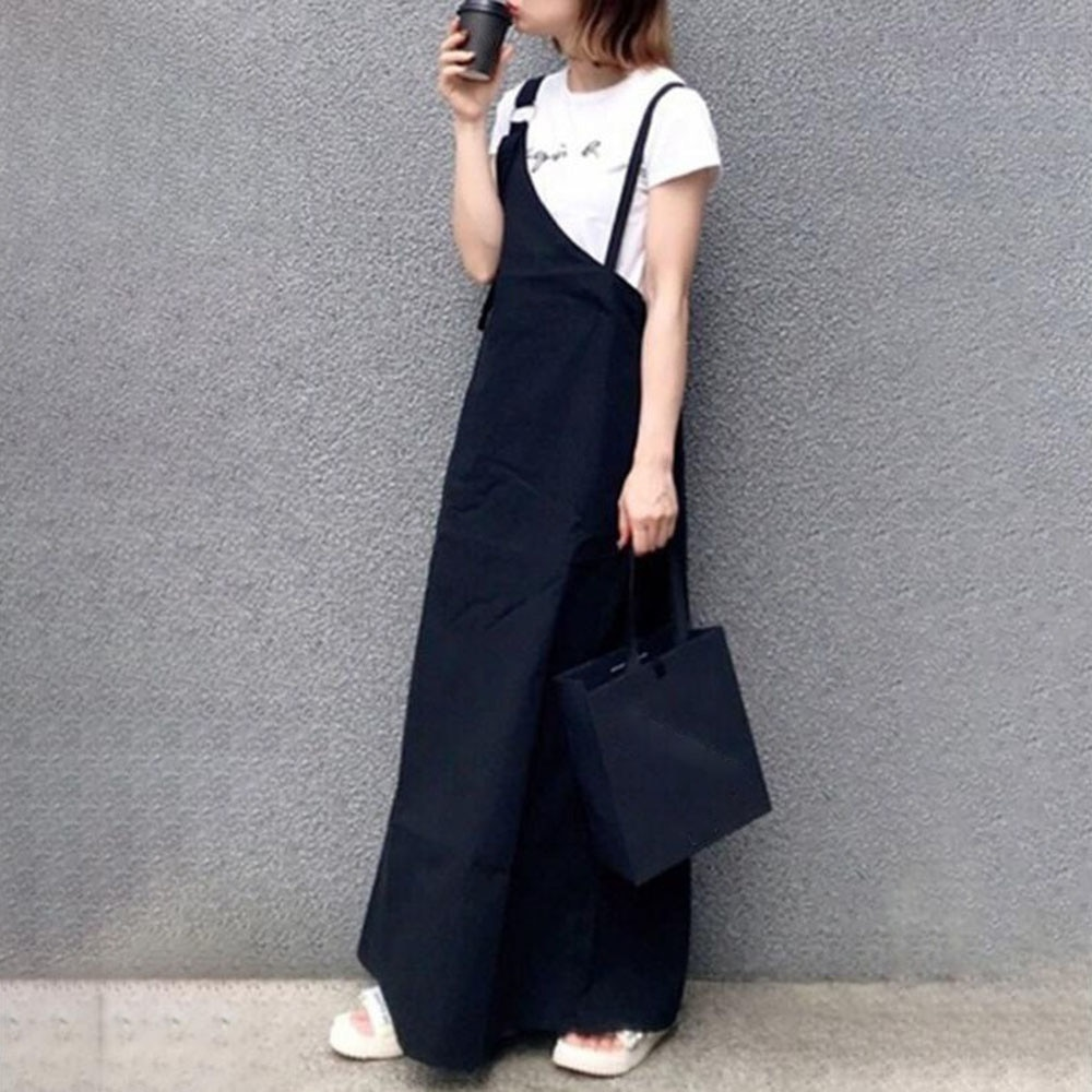 2021 Summer New Japanese Style Women's Dress Loose Casual Solid Color Retro Irregular Simplicity Tem