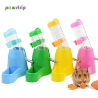 1pc hamster water bottle small animal accessories automatic feeding device food container 4 styles plastic pet drinking bottles