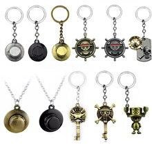 Une pièce mignon Tony Tony Chopper Ver. Porte-clés en métal pendentif porte-clés bijoux pour voiture Souvenir Chaveiro pour hommes cadeau