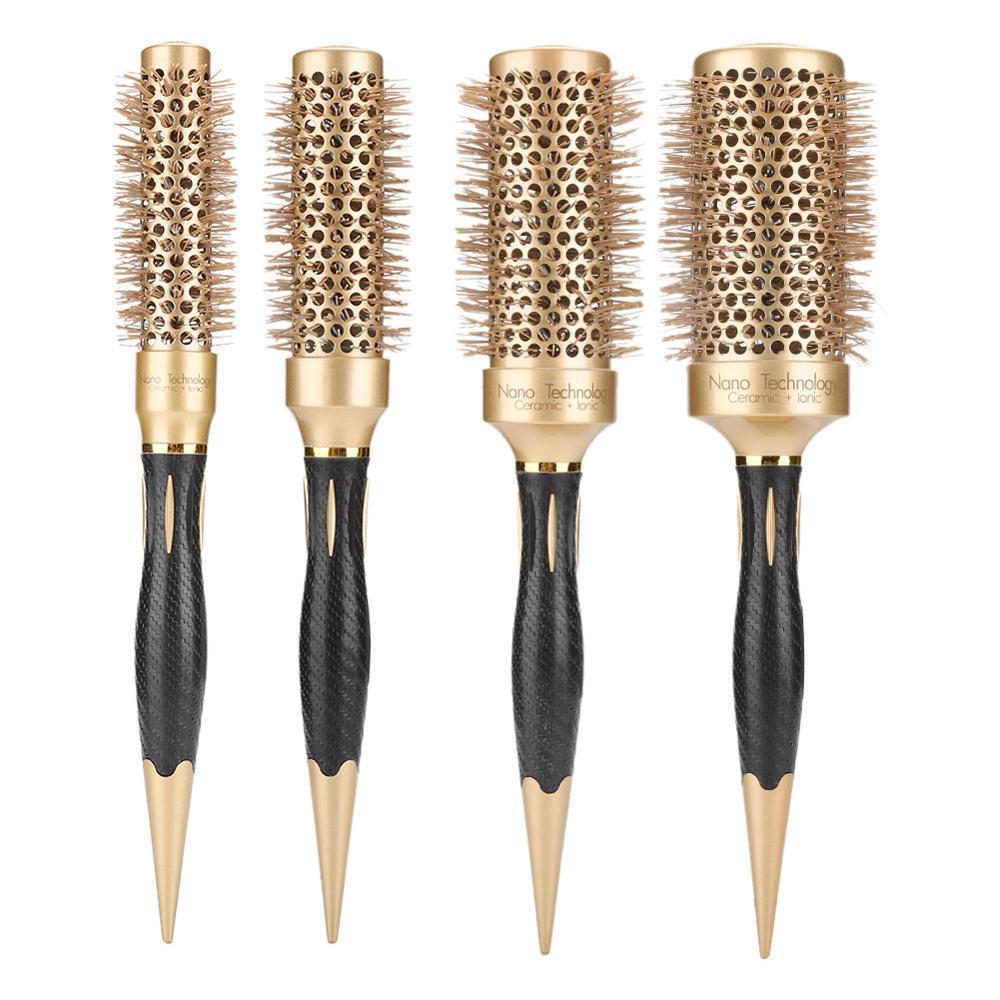 Escova de Cabelo Pente de Rolamento Acessórios para Casa Salão de Beleza do Cabelo Iônico Curling Barbeiro Hairestilo Ferramenta Cerâmica Pente Redondo