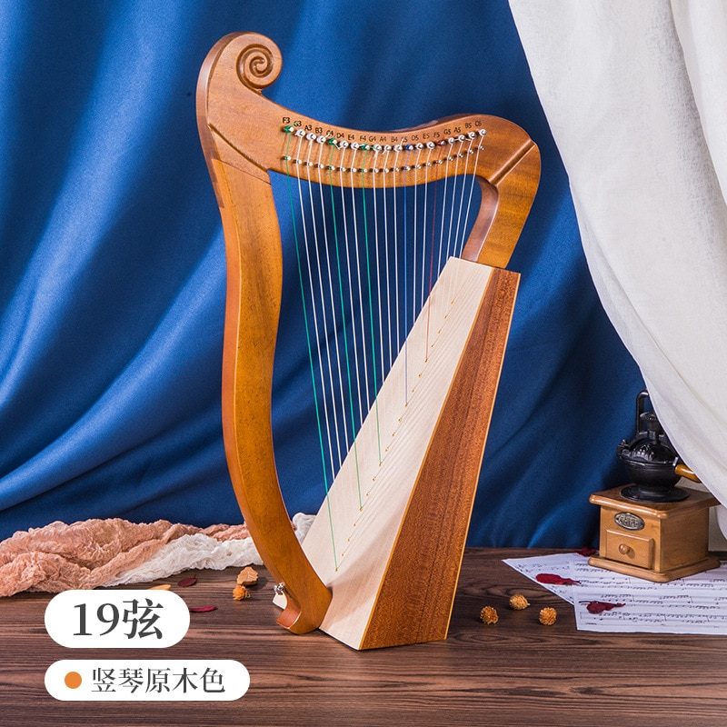 Accessories Case Music Harp Kit Small Harp 19 String Solid Wood Mahogany Frends Lira Notes Musique Musical Instrument HX50SQ enlarge