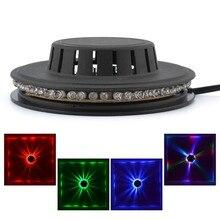 Mini 48 rvb LED fête à la maison Disco décor Flash Luz lumière coloré Beamer lumières musique lampe Par scène spectacle rotation Luces éclairage