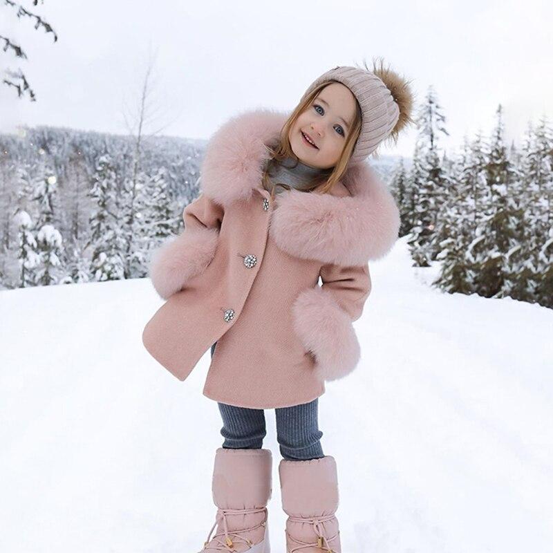 Сезон весна-осень; Детское пальто для девочек тонкое пальто Верхняя одежда с меховым воротником подкладка, верхняя одежда для девочек, свит...
