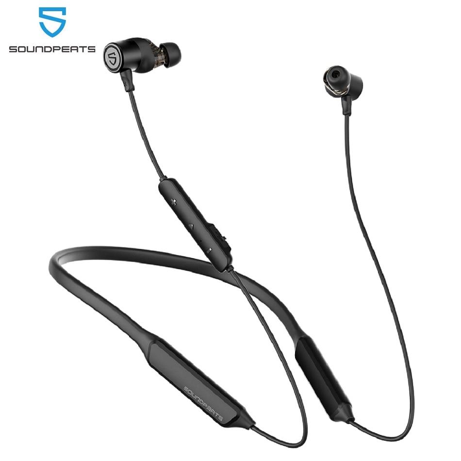 SoundPEATS Force Pro سماعات بلوتوث لاسلكية CVC المدمج في سماعة استيريو ومايك سوبر باس في الأذن المغناطيسي واقي أذن رياضي 22H لاعب