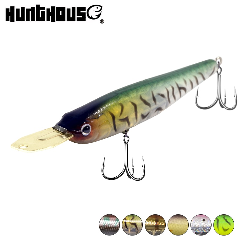 Hunthouse riser bait fishing lure minnow sinking minnow wobbler metal lip fishing lure 2020 40/70mm 5.6/8.2g for bass lw520