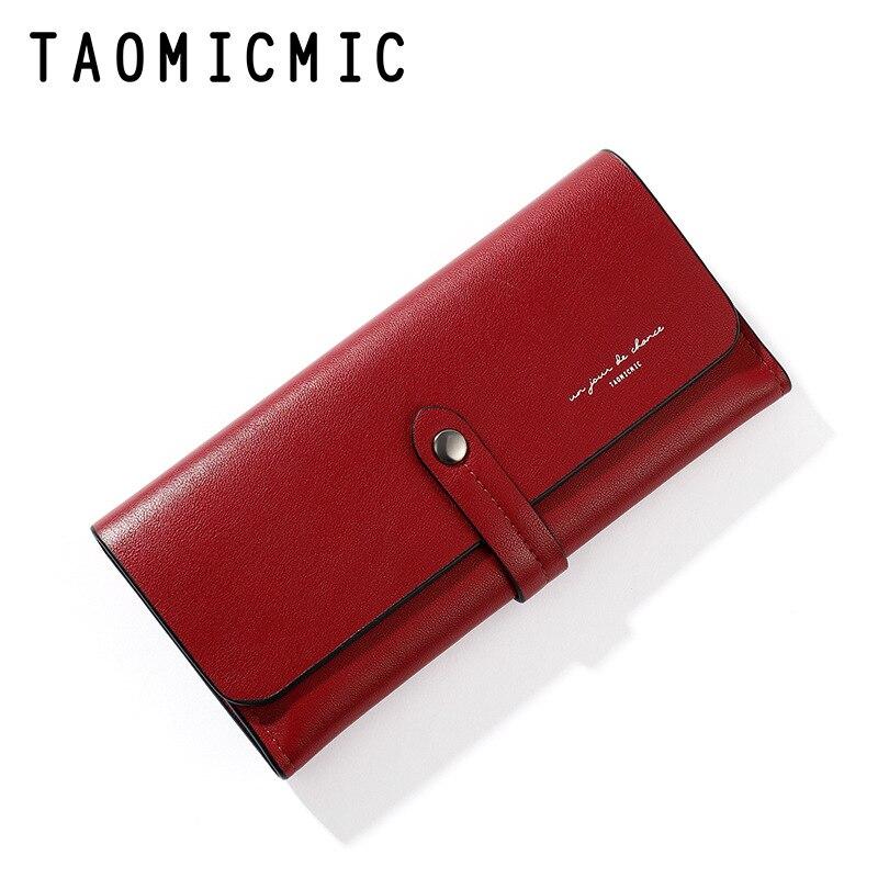 Luxury Designer Wallet Ladies Clutch Women Hasp Wallet Card Holder Leather Female Purse Long Women W