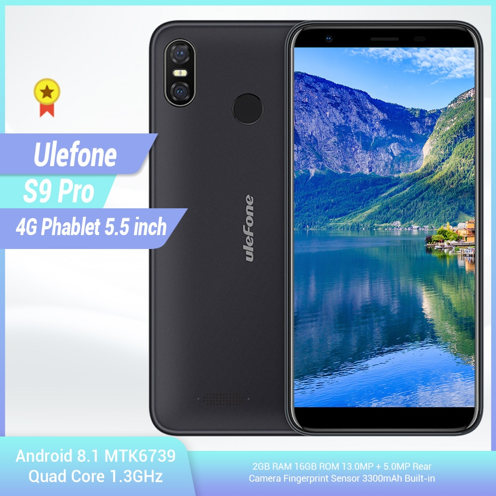 Ulefone s9 pro 4g smartphone 5.5 polegada android 8.1 mtk6739 quad core 1.3 ghz 2 gb ram 16 gb rom 13.0mp + 5.0mp telefone móvel