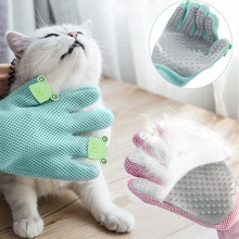 Grooming Glove For Cats Deshedding Pet Silicone Brush Cleaning Back Massage Bathing  Removal Fur Hai