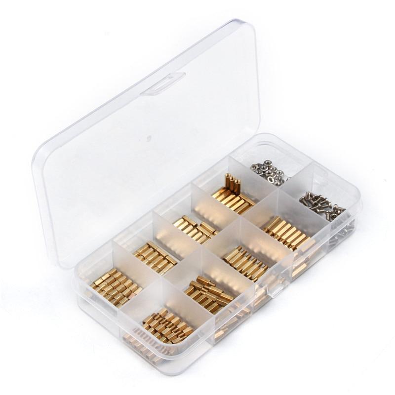 M3 رأس سداسي النحاس المواجهة فاصل مسامير مترابطة عمود 300 قطعة ذكر/أنثى الكهربائية PCB لوحة دوائر كهربائية الوقوف قبالة عدة