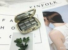 Bricolage haut de gamme rouge à lèvres cosmétiques à la main ombre à paupières séparément emballé étui Test couleur boîte vide plateau avec miroir échantillon Makeu