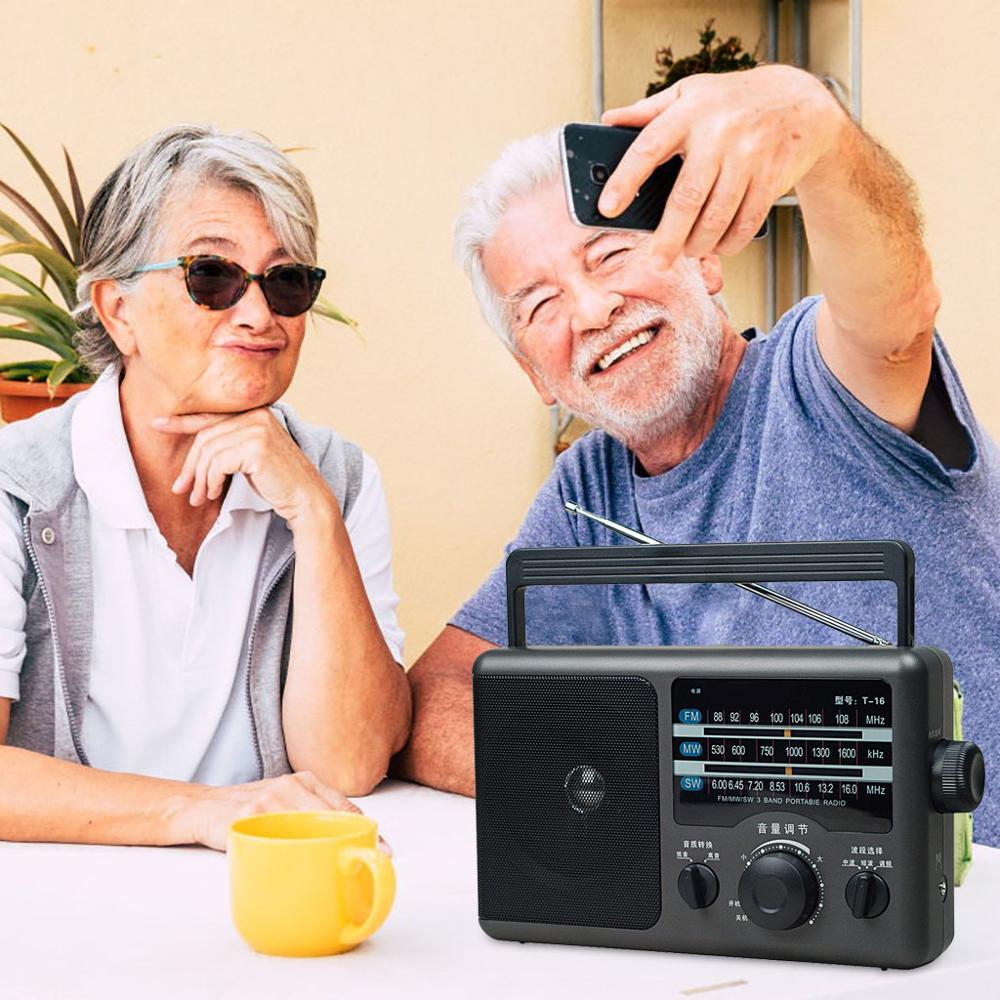 Radio Clásica portátil AM FM con altavoz grande, Transistor de potencia AC,...