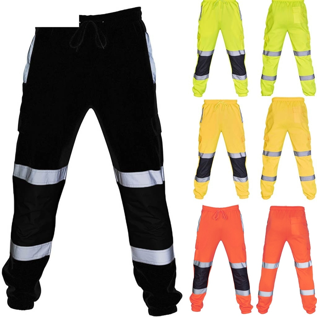 2020 Work Pants Men's Auto Repair Labor Insurance Welding Factory Work Clothes Trousers Safety Pants Work Overalls Pocket Wear