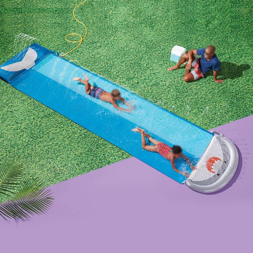550cmx145cmx10cm Pool Slide Recreational Double Design Smooth Surface Compatible Friends Slide Boards for Home Toy Slide for kid