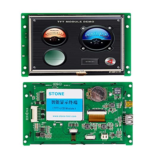 5 inch HMI TFT LCD Monitor with Controller Board & Touchscreen for Equipment Control Panel