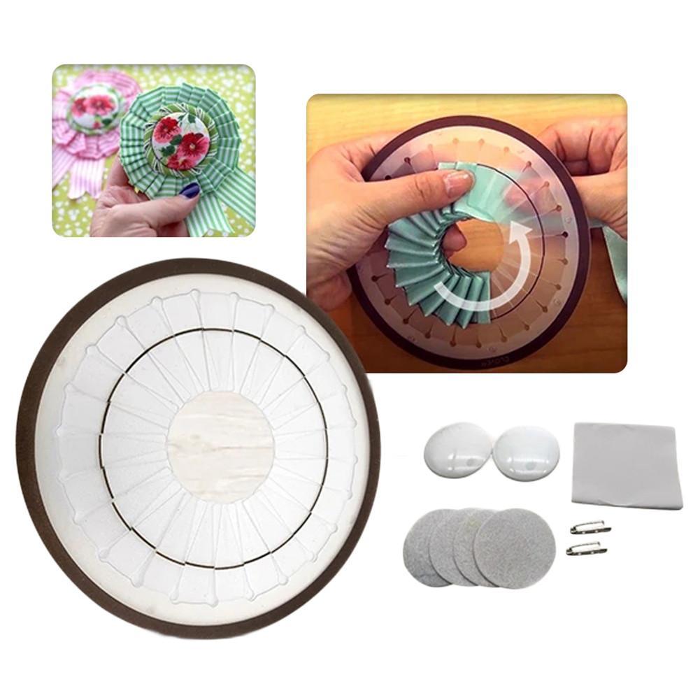 Broche Kit bricolage fait à la main Durable Rosette faisant outil avec 2 tailles différentes ornement Patchwork fabricant # CW