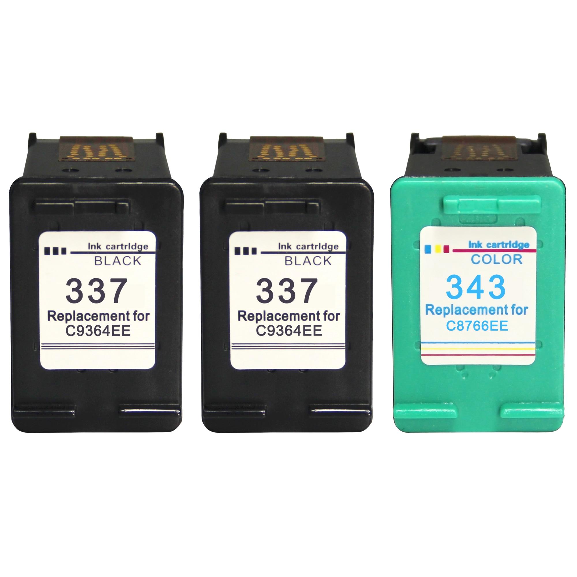 Cartucho de tinta HP 343 337 remanufacturado para HP 337 hp 343 para HP Photosmart 2575 8050 C4180 D5160 Deskjet 6940 D4160 hp PSC 1500