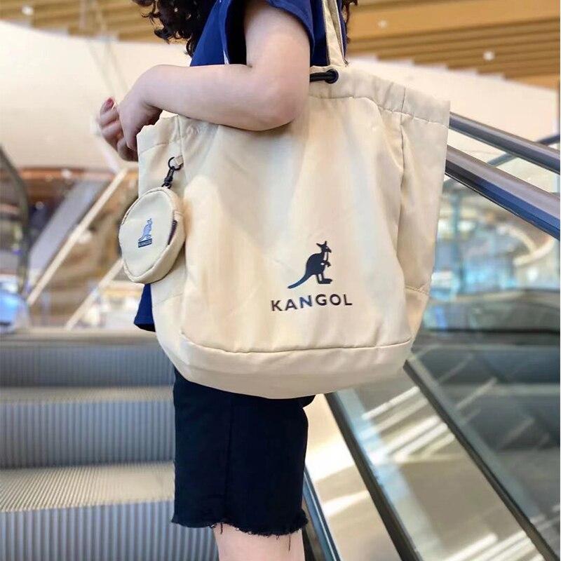 Модная нейлоновая женская сумка цвета хаки, сумка-тоут через плечо, школьная односторонняя сумка для покупок, кошелек, сумки Kangol на плечо