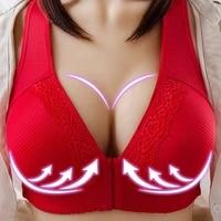 SFIT Sports Women Back Buckle Cotton Bra Wire Free Plus Size Underwear Widened Shoulder Straps Brasieres Comfort Breast Female