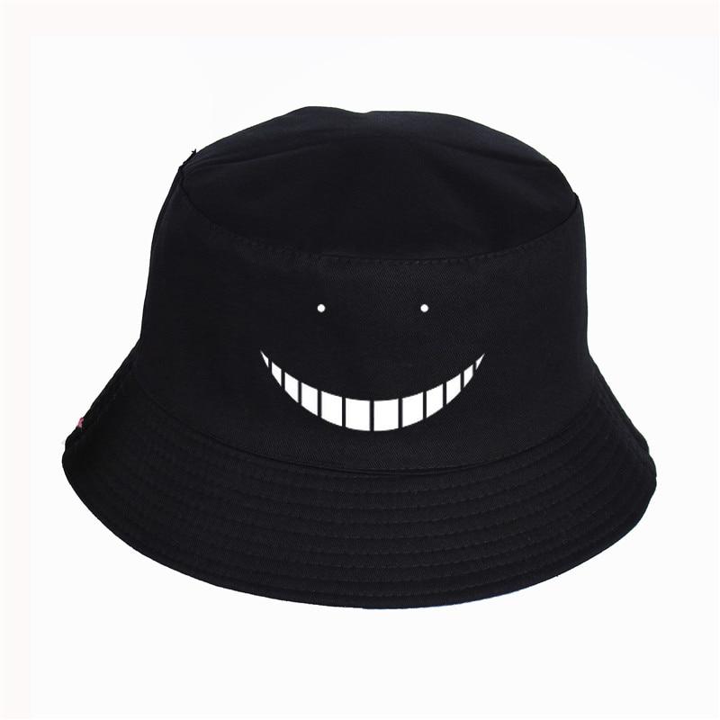 Men and women Anime Assassination Classroom Panama Bucket Hat Summer Sport Cap Sun Visor Fishing Casual Solid Color Hats