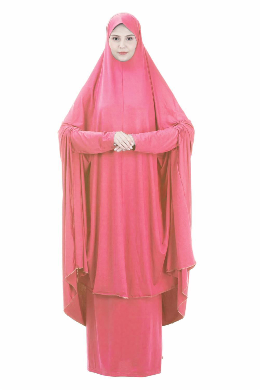 Комплект молитвенной одежды из двух предметов, платье, мусульманская женская абайя цзилбаб, хиджаб, длинная одежда, химар, Рамадан, юбка, аба...