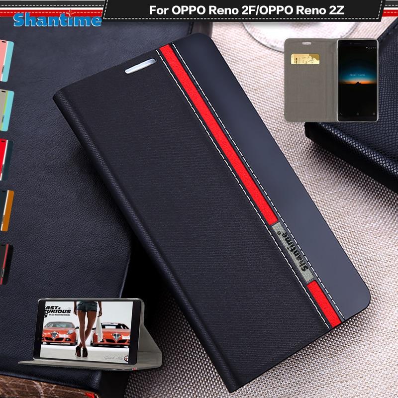 Funda de cuero PU de lujo para OPPO Reno 2F, funda con tapa para teléfono OPPO Reno 2Z, funda trasera de silicona suave de TPU