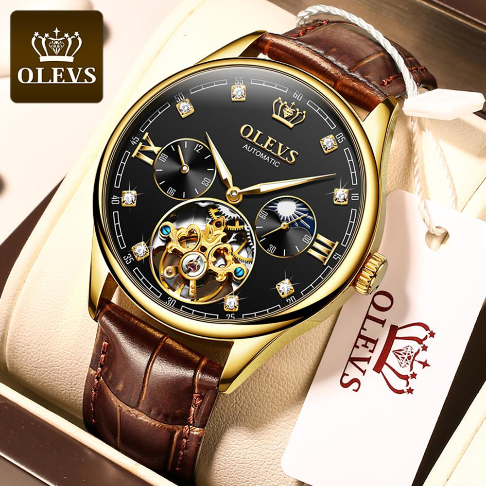 OLEVS New Top brand mens mechanical watch business waterproof Automatic Luxury Watch