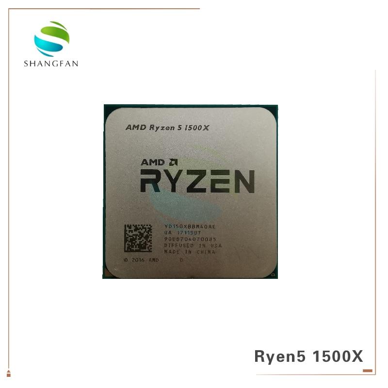 [해외] AMD-Ryzen 5 1500X R5 1500X 3.5 GHz 쿼드코어 CPU 프로세서 L3 = 16M 65W YD150XBBM4GAE 소켓 AM4, 라이젠 중고 씨피유 쿨러