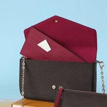 Woman Bags Fashion Women One Shoulder Bags Luxury Brand LeatherThree-Piece Crossbody Bag High Qualit