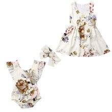 Tenue de famille assortie pour nouveau-né   Barboteuse à volants, combinaison bandeau, tenues pour bébés filles