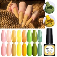 UR sucre 7.5ml UV Gel vernis à ongles jaune vert couleur Gel tremper UV Gel vernis couleur vernis à ongles bricolage vernis à ongles
