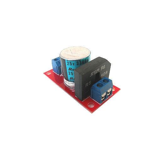 Tablero de filtro rectificador DYKB AC 12V 18V 8A RS808, placa de filtro rectificador de fuente de alimentación para tarjeta de amplificador con indicador led