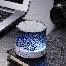 Colorful Wireless Portable Bluetooth Speaker Mini LED Music Audio TF USB FM Stereo Sound Speaker For Phone Computer column