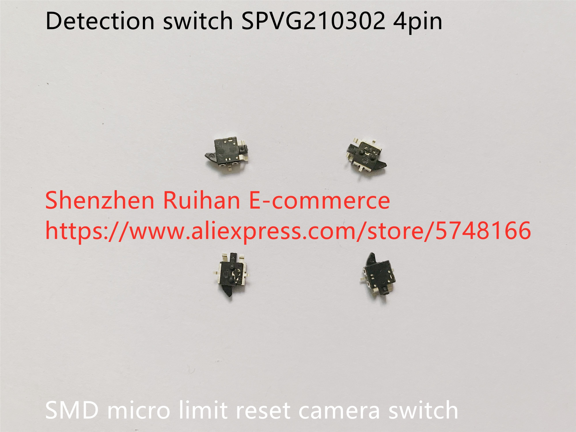 مفتاح كشف 100% SMD ، 4pin ، SPVG210302 ، إعادة ضبط الحد الصغير للكاميرا ، أصلي وجديد