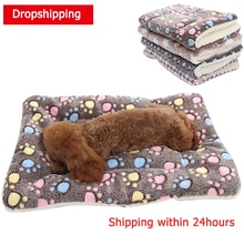 HEYPET-couverture pour animal domestique   Lit pour chien, tapis de chat, molleton en corail doux, épais, lits de couchage chauds pour petits chiens moyens, fournitures danimaux domestiques