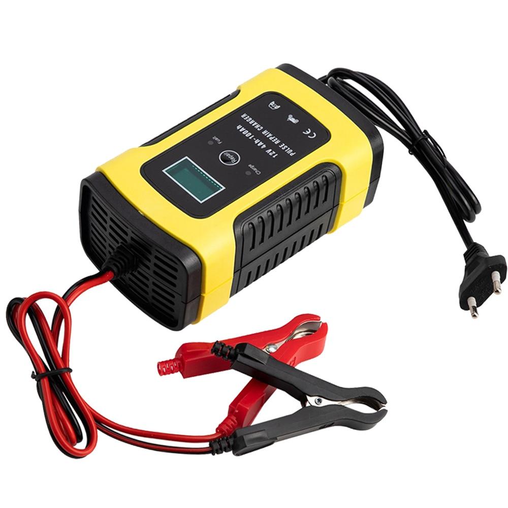 12V 6A полностью интеллектуальное автомобильное зарядное устройство, поддерживающее устройство, умное быстрое свинцово-Кислотное зарядное устройство с ЖК-дисплеем для автомобильного мотоцикла