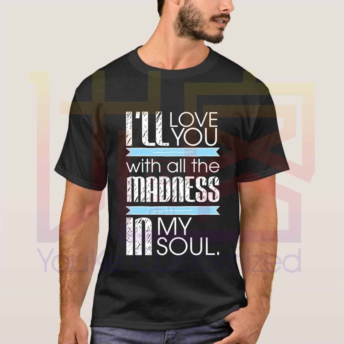 Nouvel été 2020 je taimerai avec toute la folie dans mon âme Bruce Springsteen Logo 100% T-Shirt coton décontracté taille S-4XL