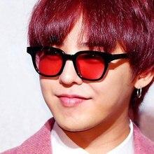 HAPTRON Light vintage Sunglass Men Square Brand yellow color clear Sun Glasses Women Candy Color Sun