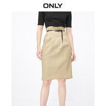 ONLY jupe haute en lin couleur Pure pour femme   119116529