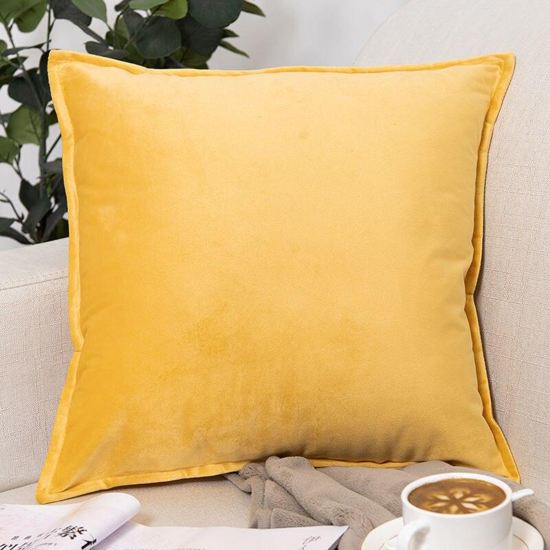 Бархатная подушка чехол декоративная подушка для дивана чехол постельная подушка покрытие домашний декор чехол для автомобильной подушки ... чехол