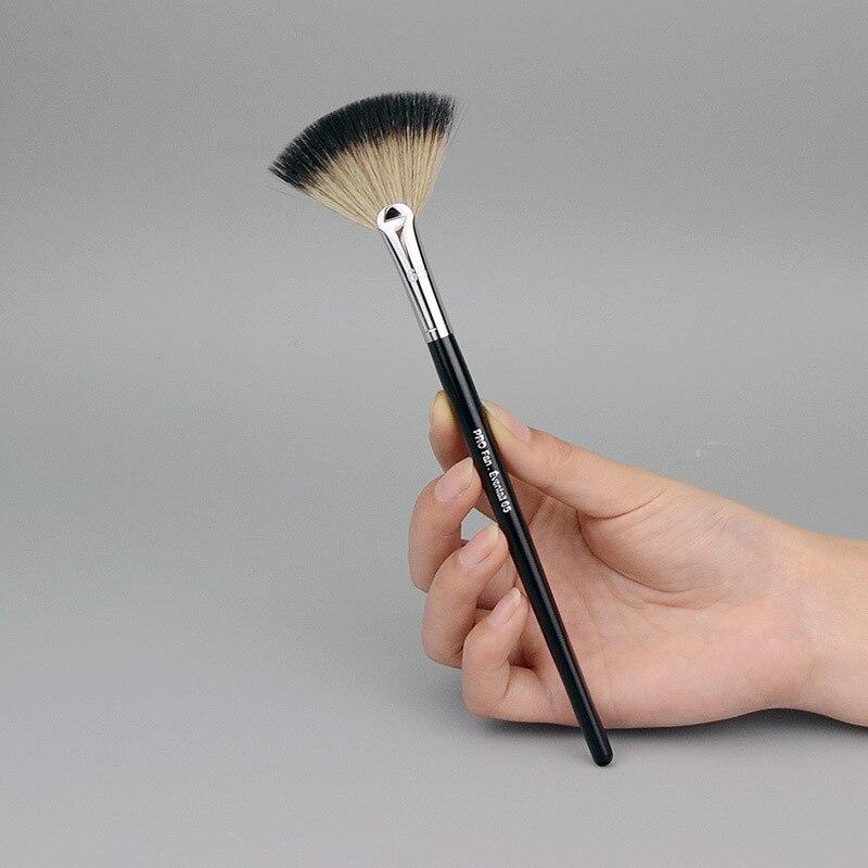 65 # Pro Веерная кисть, кисти для макияжа, пудра, хайлайтер, Веерная кисть для лица, макияж, кисть для пудры, высокое качество, косметические кист...