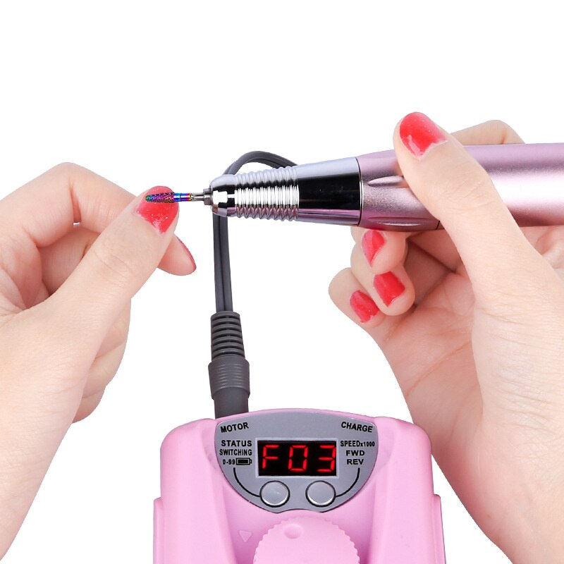 High Speed Rechargeable Nail Polisher Nail Remover and Polished Nail Tool Portable Mini LCD Electric Portable Grinding Machine