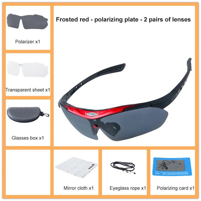 Polarized Photochromic UV400 Outdoor Road Cycling Eyewear Sports Cycling Sunglasses Men Women Bike B